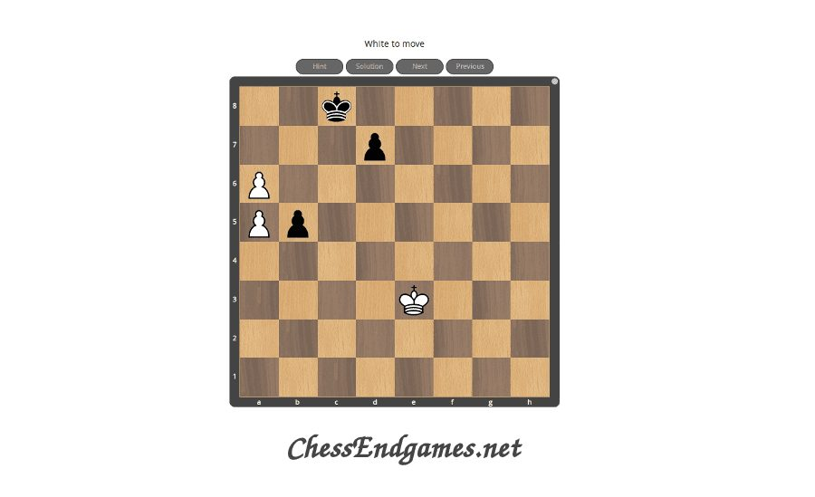Chess Endgame Puzzles. Collection of instructive puzzles from chess endgames.
